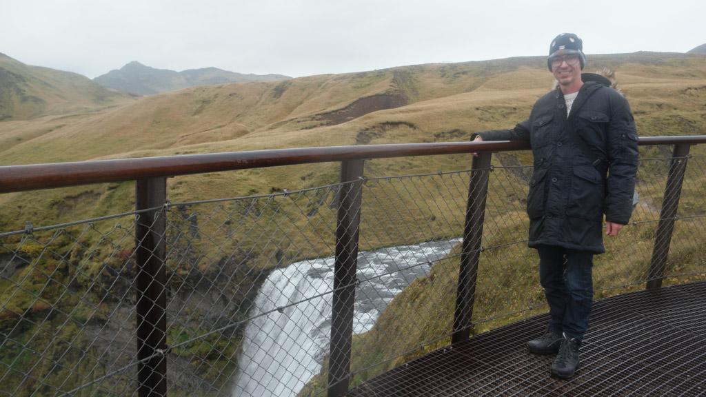 Gerard beklimt het steile pad.