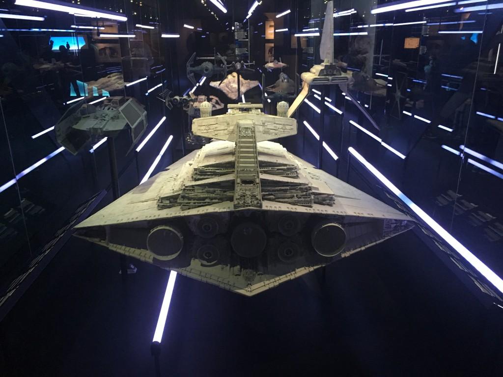 Natuurlijk zijn er heel veel miniatuur-ruimteschepen te bewonderen