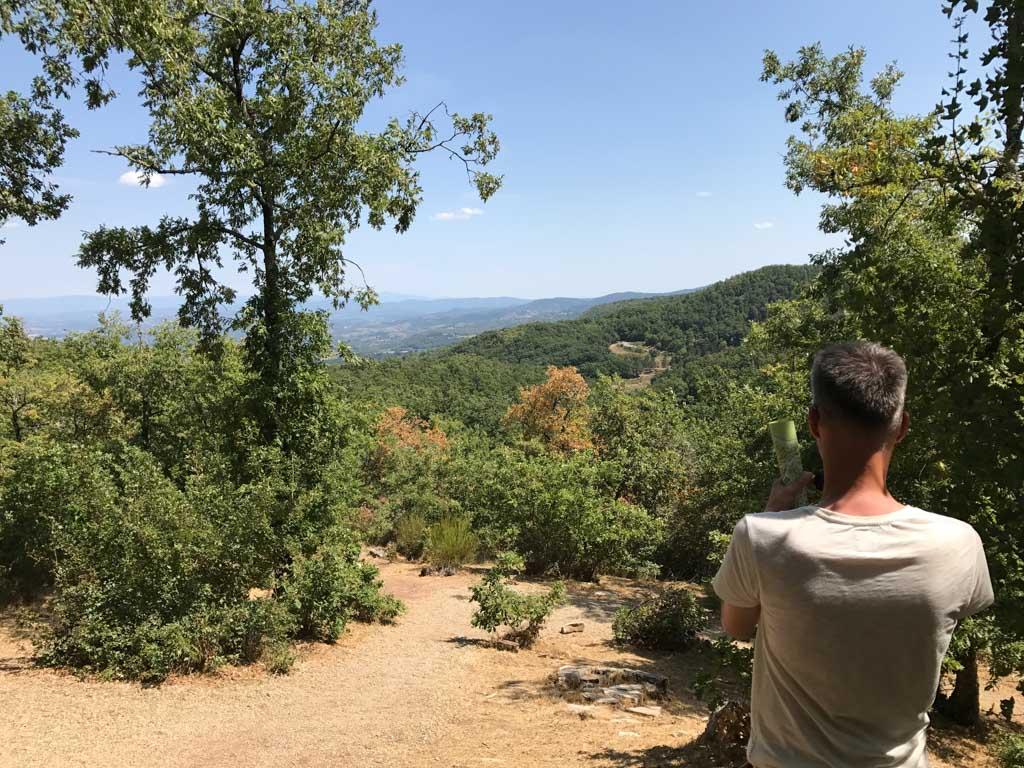Dit zal je dagelijkse uitzicht maar zijn.... te vinden aan de zuidkant van de camping.
