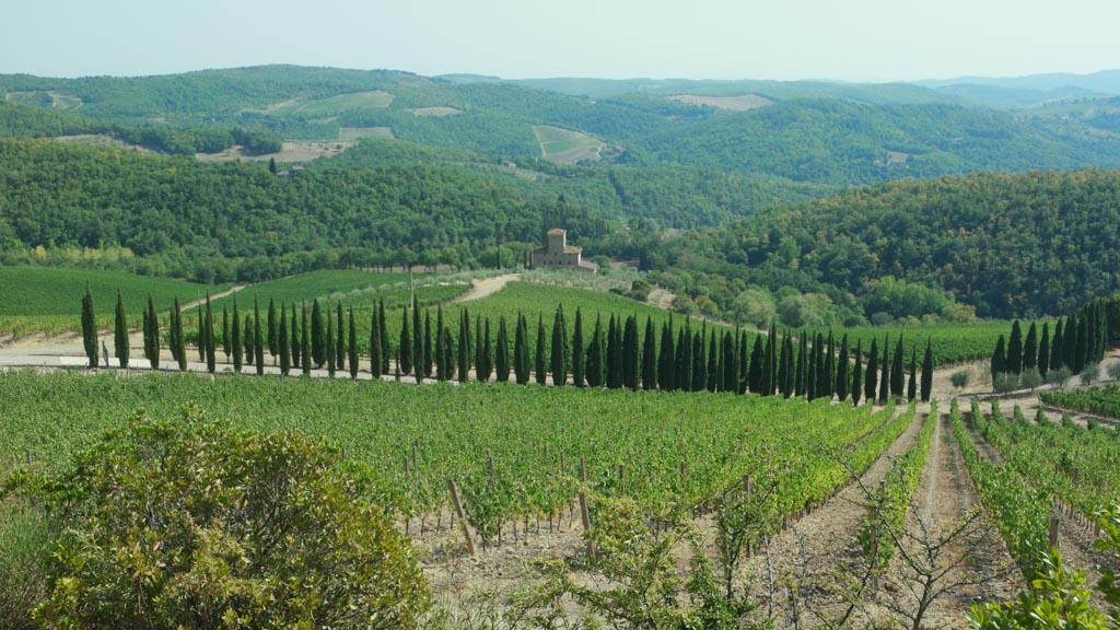 Het Toscaanse landschap.