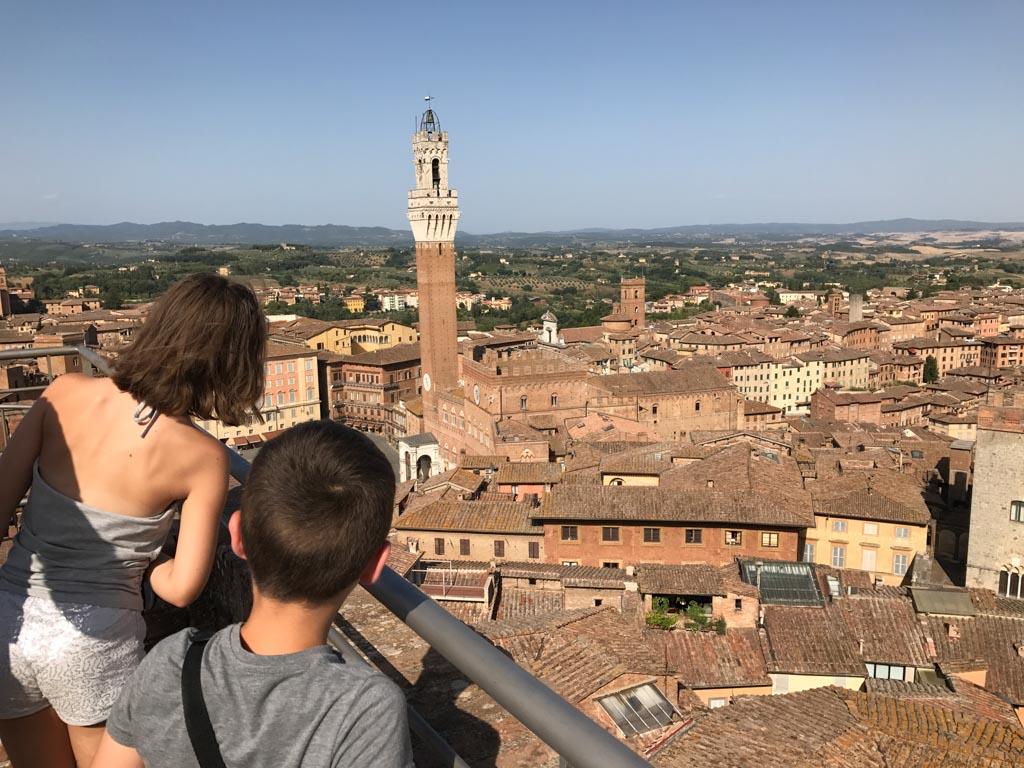 Wauw, prachtig zicht op Siena.