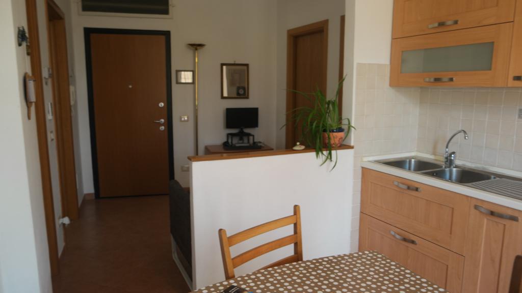 Woonkeuken in het appartement in Florence.
