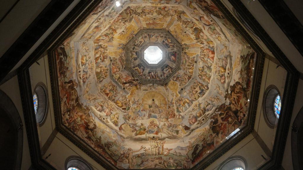 De prachtige koepel van de Duomo.