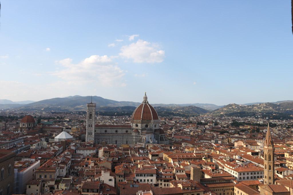 Uitzicht op Florence (vanaf Palazzo Vecchio).