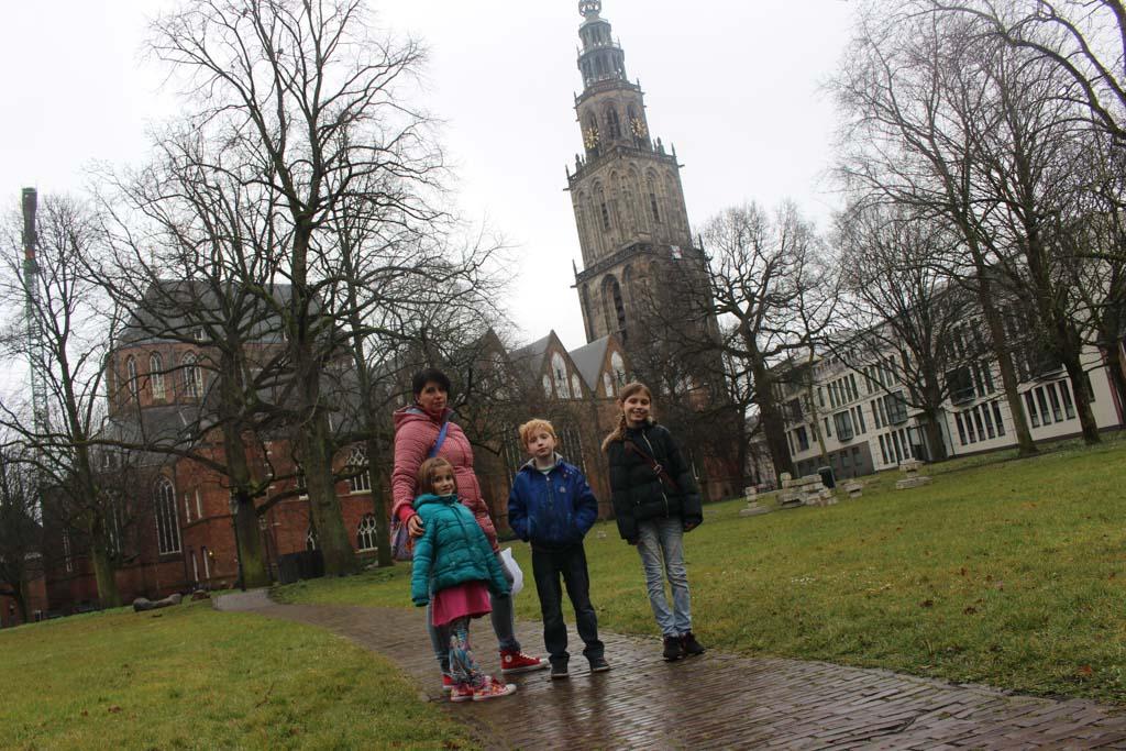 Achter de Martinitoren in Groningen