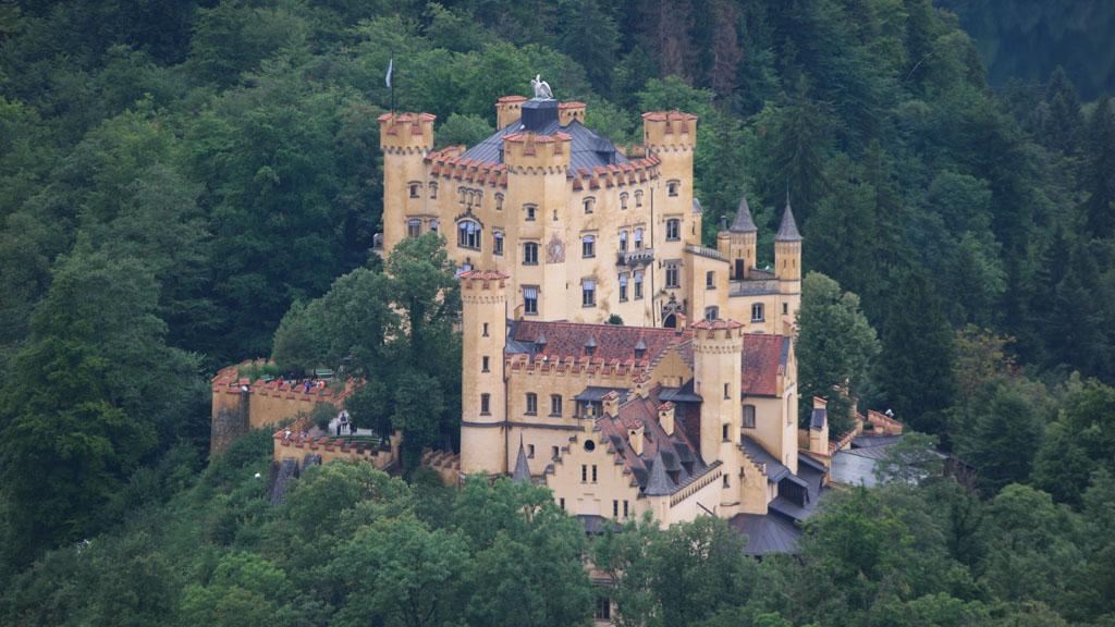 Een van de andere kastelen van koning Lodewijk, een bezoek aan dit kasteel bewaren we voor de volgende keer.