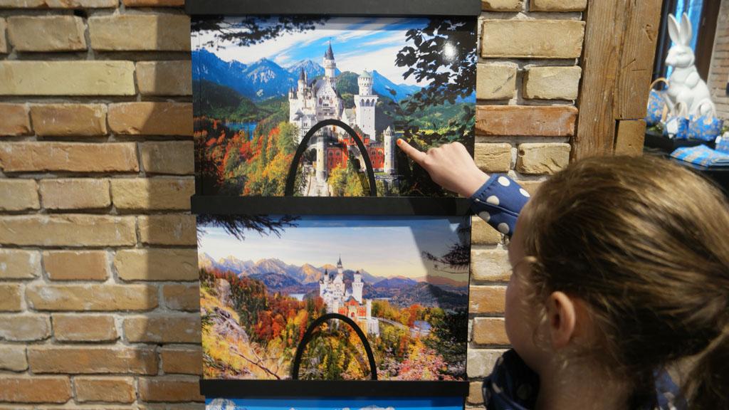 We worden achtervolgd door plaatjes van Neuschwanstein met helder weer!