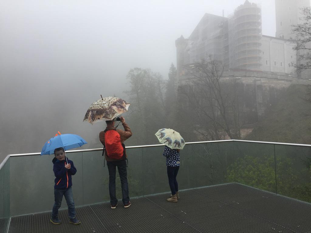 Best wel deprimerend uitzicht met die mist.