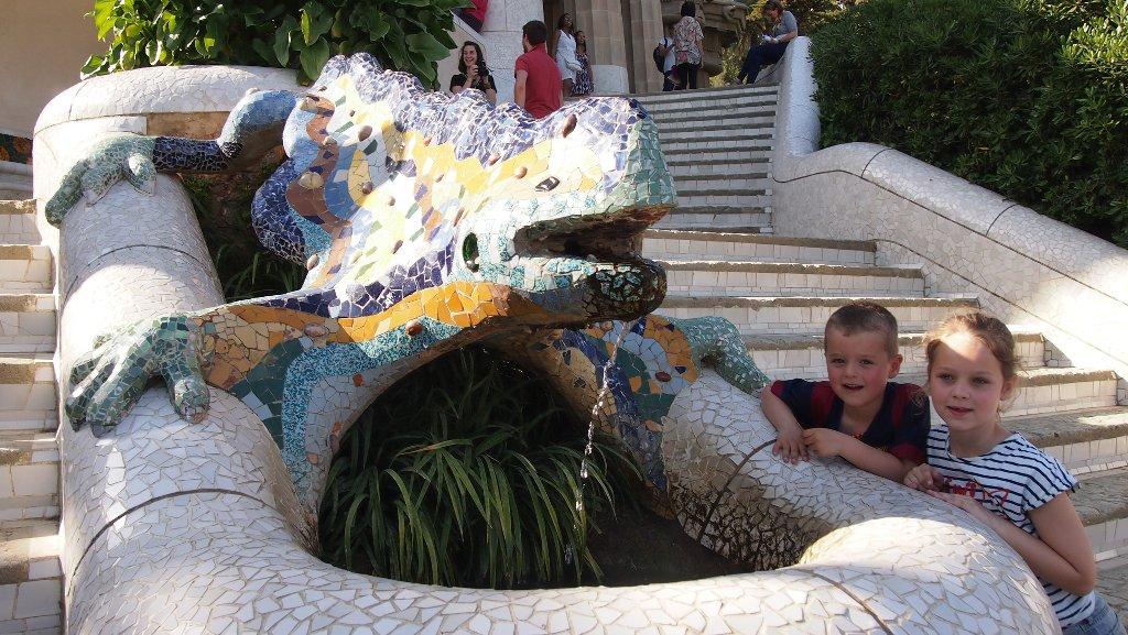 Parc Guell met kinderen