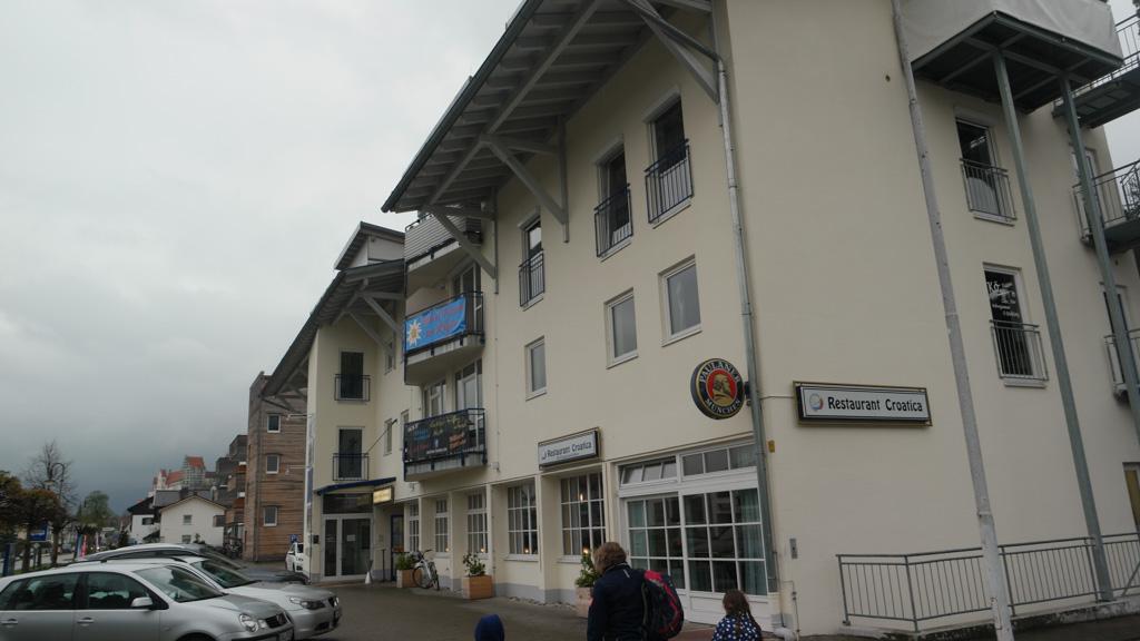 Het motel in Fussen.