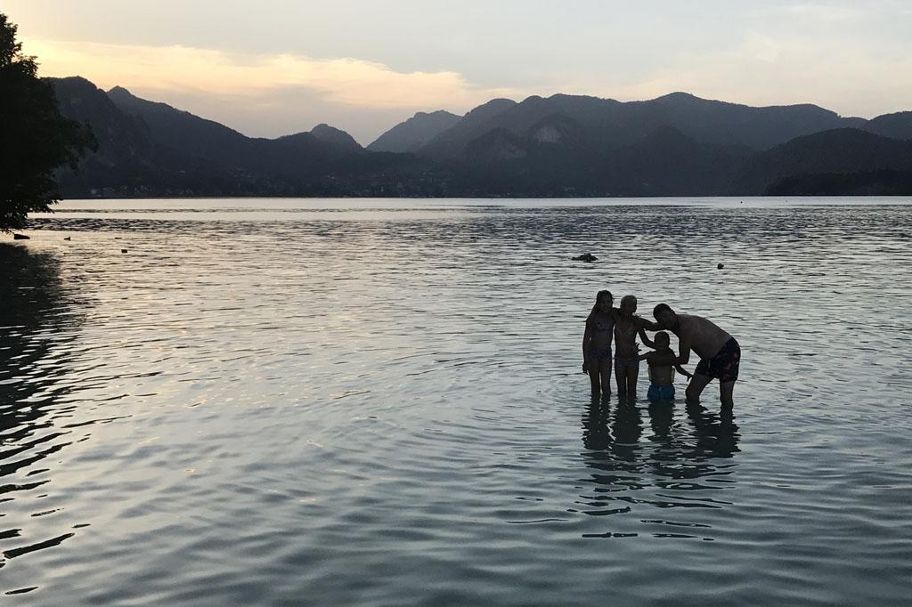 camping birkenstrand avond zwemmen