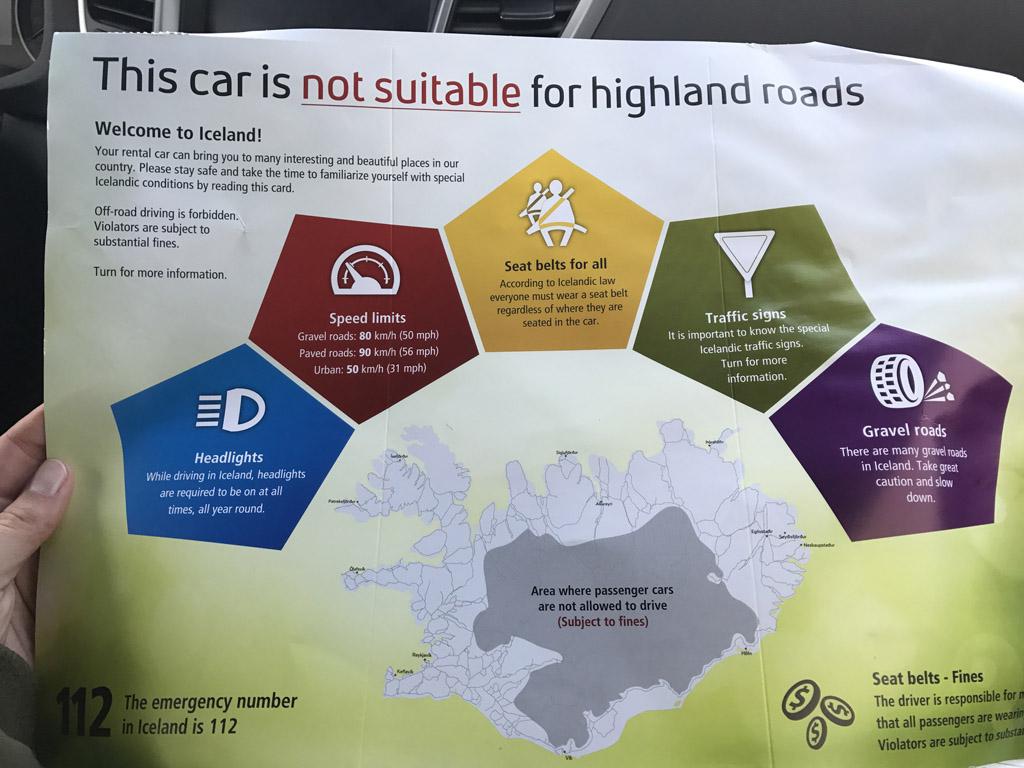 Onze 4WD mag het binnenland niet in.