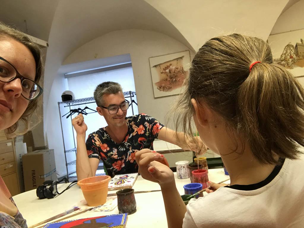 Workshop fresco schilderen voor kinderen en hun ouders.