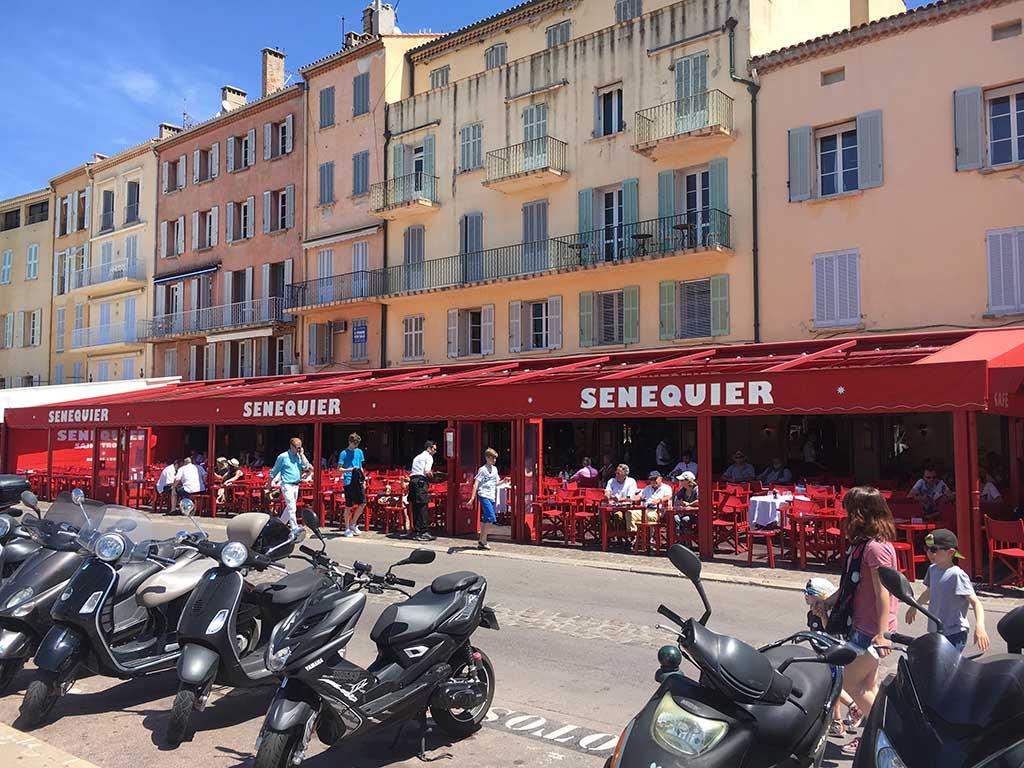 Het bekendste terras van Saint Tropez