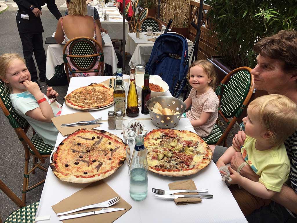 Pizza eten in Nice