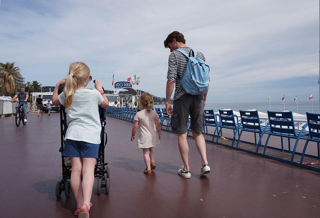 Slenteren over de promenade des Anglais