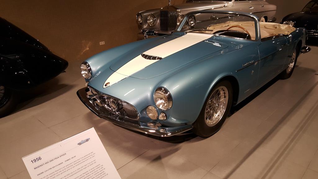 Een Maseratis Spider, waar er slechts 9 van zijn gebouwd.