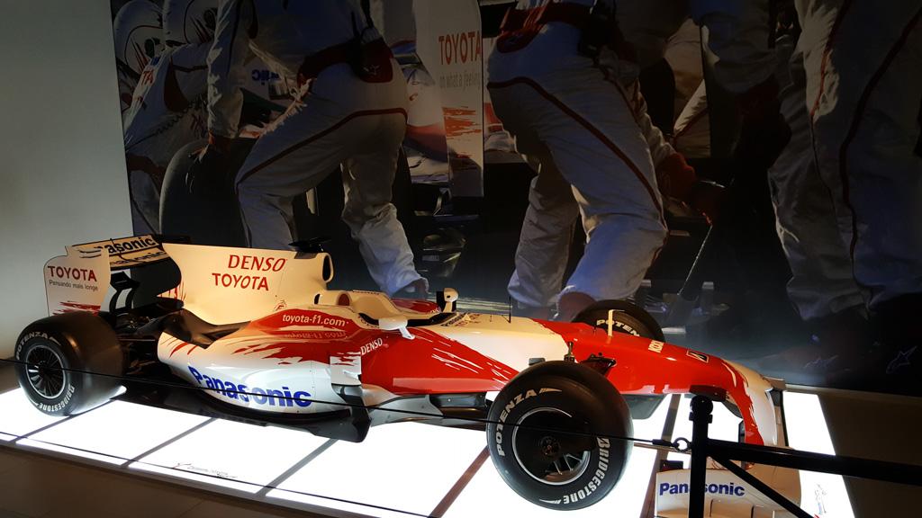 De Formule-1 auto van Jarno Trulli.