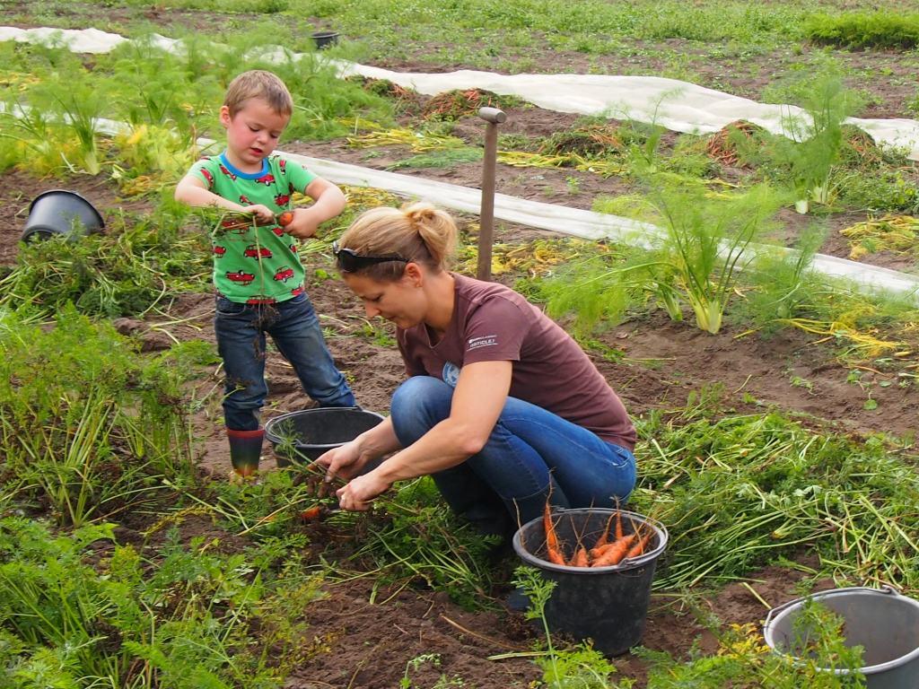 Helpen op de boerderij is voor peuters een heel leuk uitje. (Foto: Saskia)