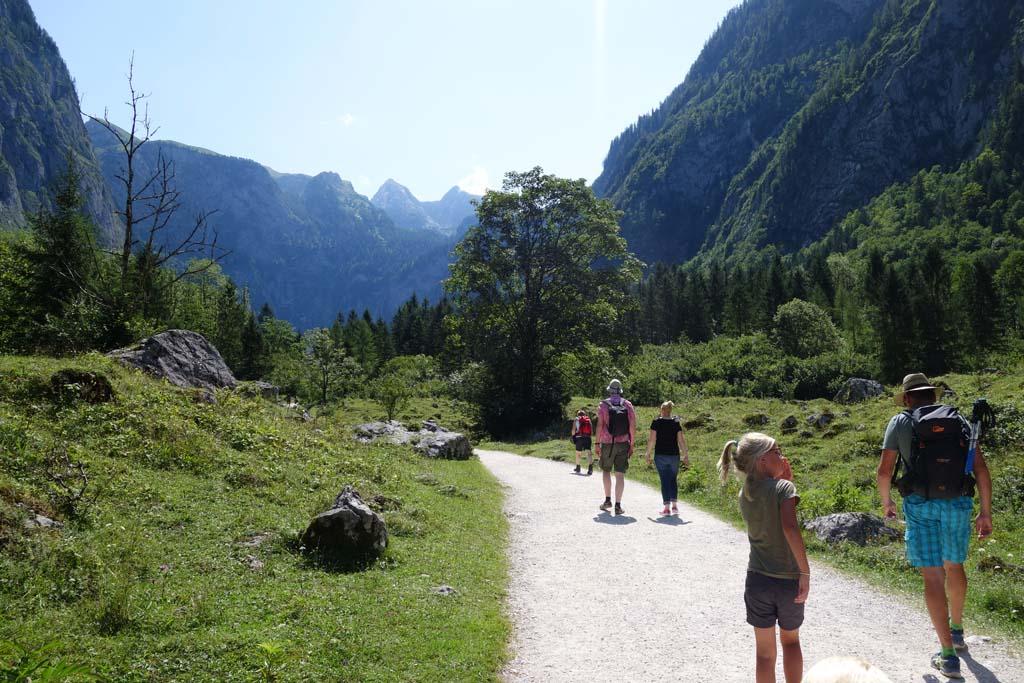 Wandelen bij de Konigssee wandelpaden