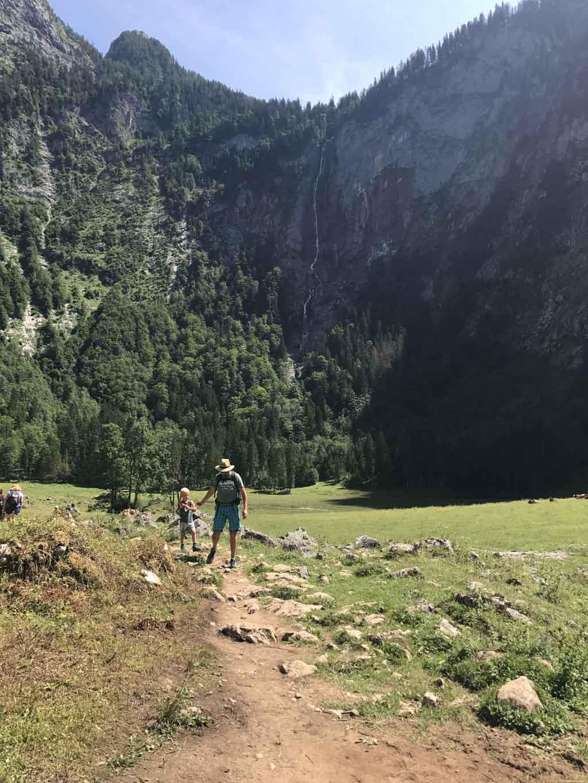 Wandelen bij de Konigssee terugweg