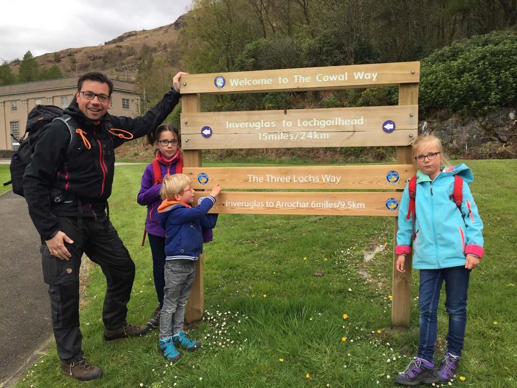 wandelen in Schotland met kinderen three lochs way