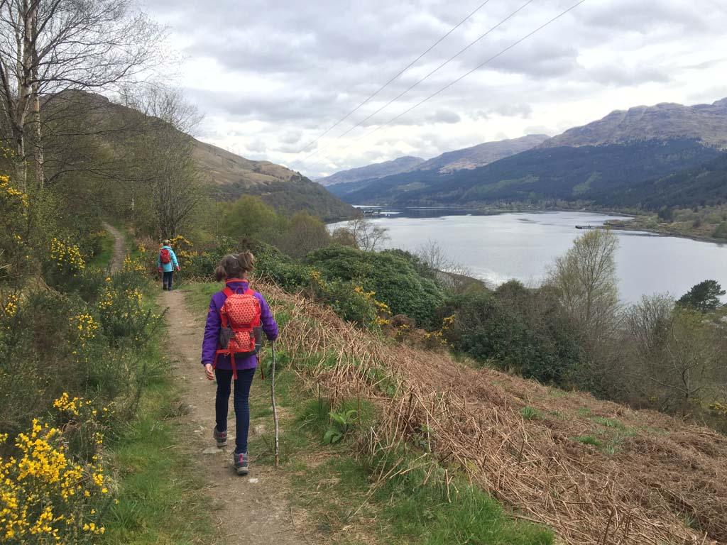 wandelen in Schotland met kinderen meren