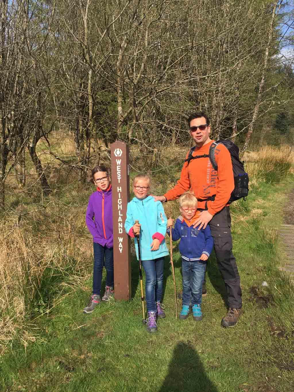 wandelen in Schotland met kinderen westhighlandway