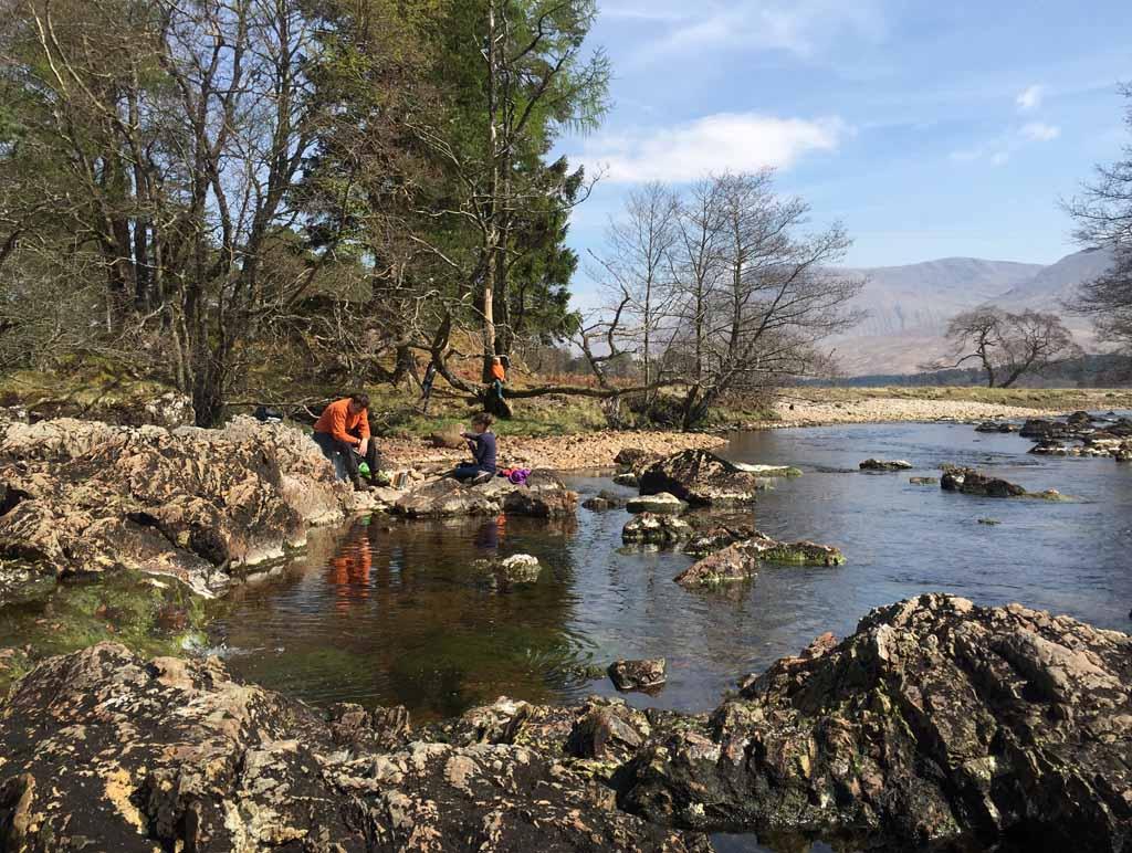 wandelen in Schotland met kinderen picknick