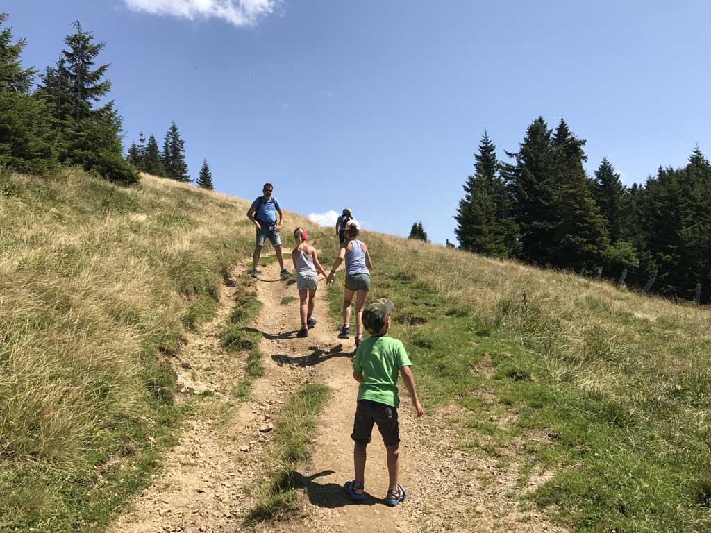 wandelen rondom de wolfgangsee, schafberg naar boven