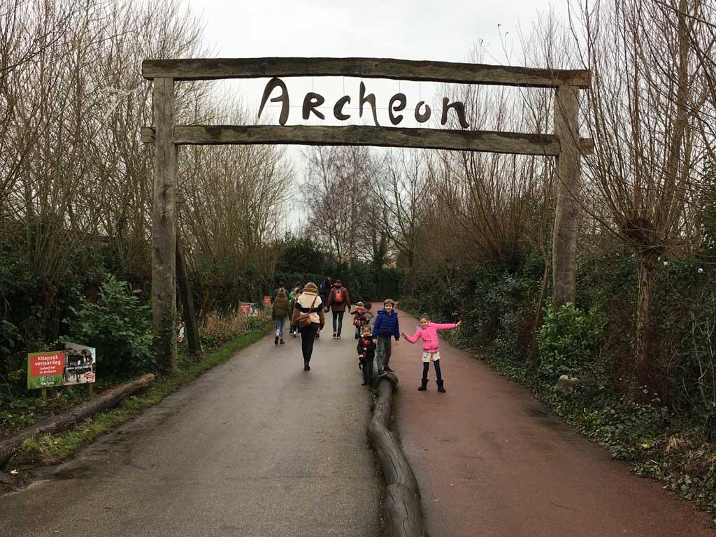 Het Archeon in de winter