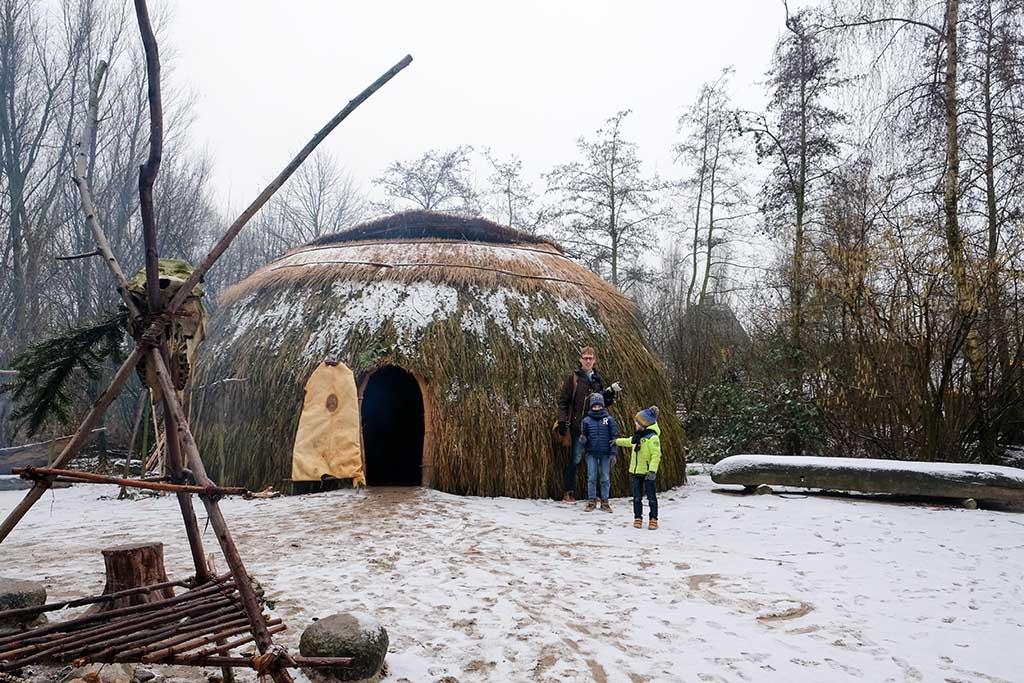 Het Winter Archeon in de sneeuw (foto Iris)