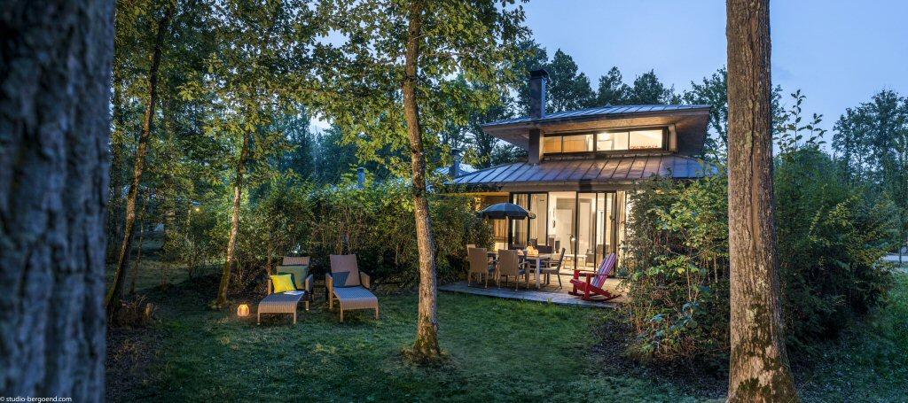 Onze cottage Center Parcs Les Bois-Francs, een VIP Pagode (foto: Center Parcs)