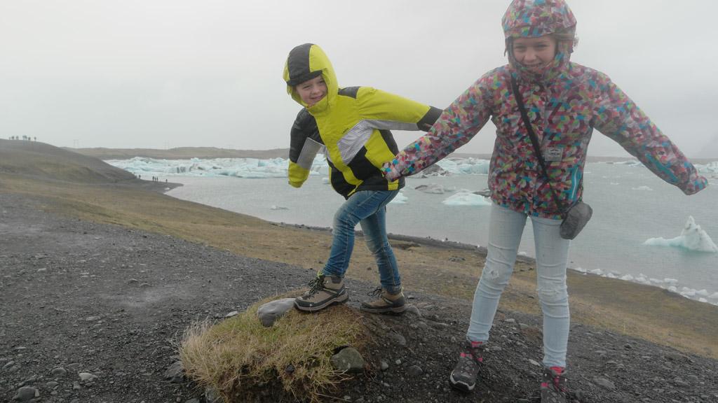 Er staat een fikse IJslandse wind.