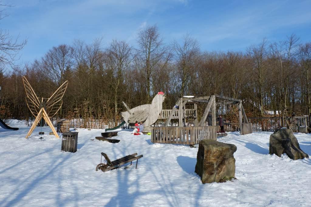 De fijne speeltuin van het Natuurparkcentrum in Botrange op de Hoge Venen