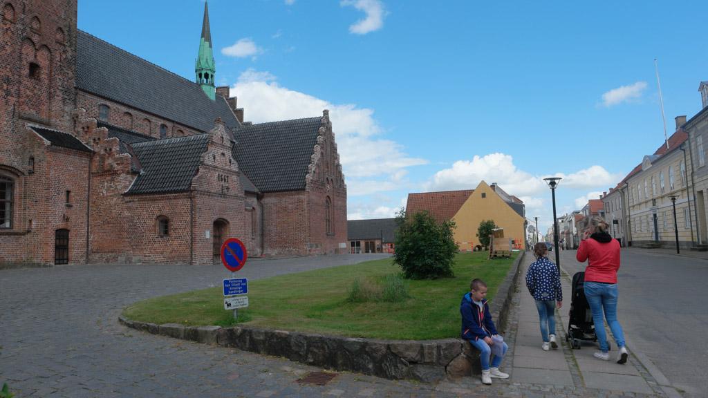 Het kerkje in het centrum van Middelfart.