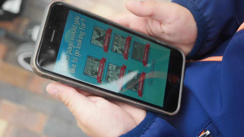 Wandelen met een app door Odense.