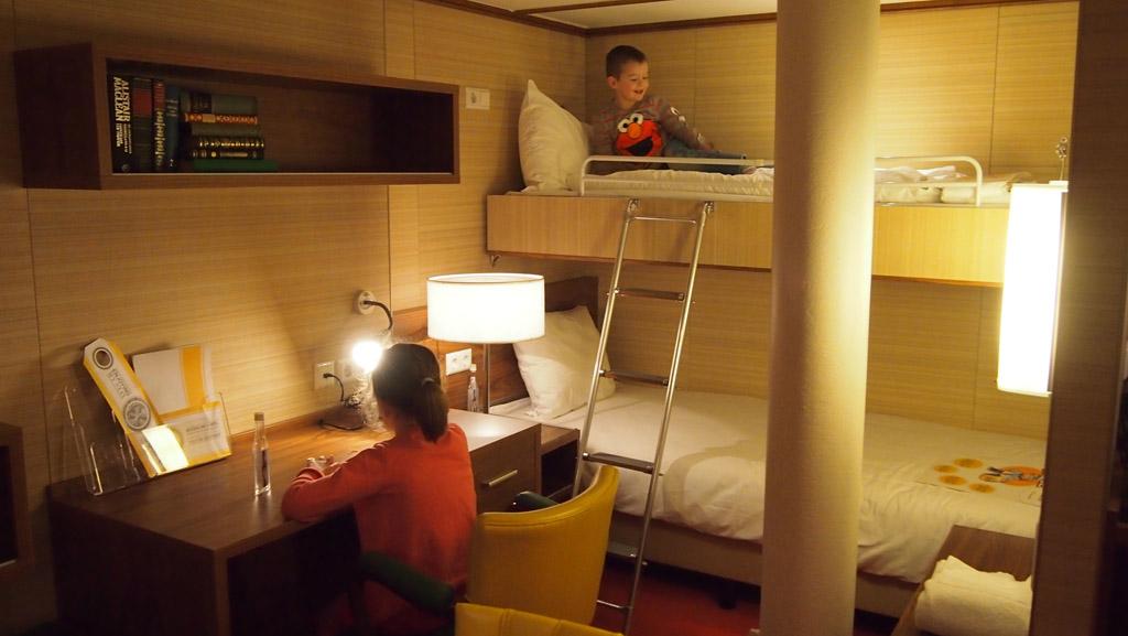 In de familiehut op het SS in Rotterdam