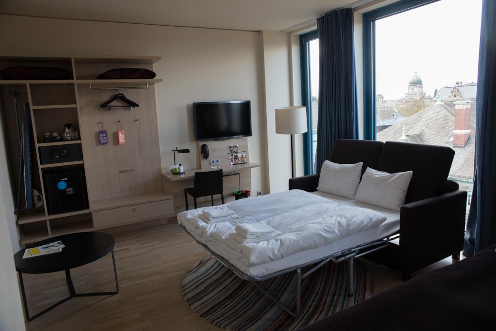 Familiekamer in Hotel Scandic in Hamburg