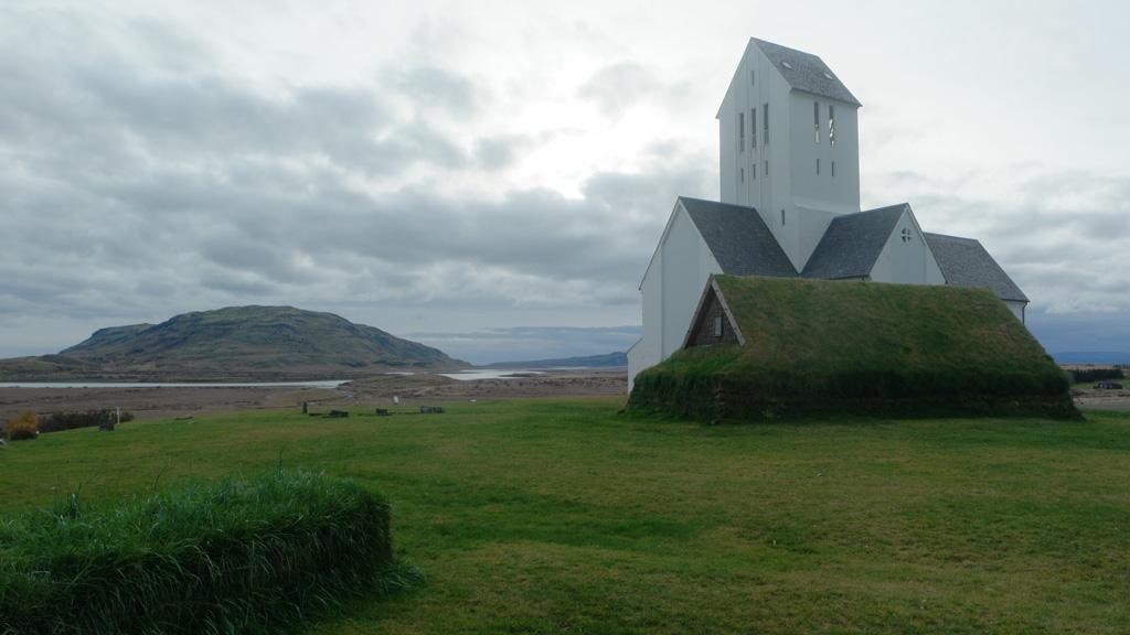 Het kerkje van Skalholt.