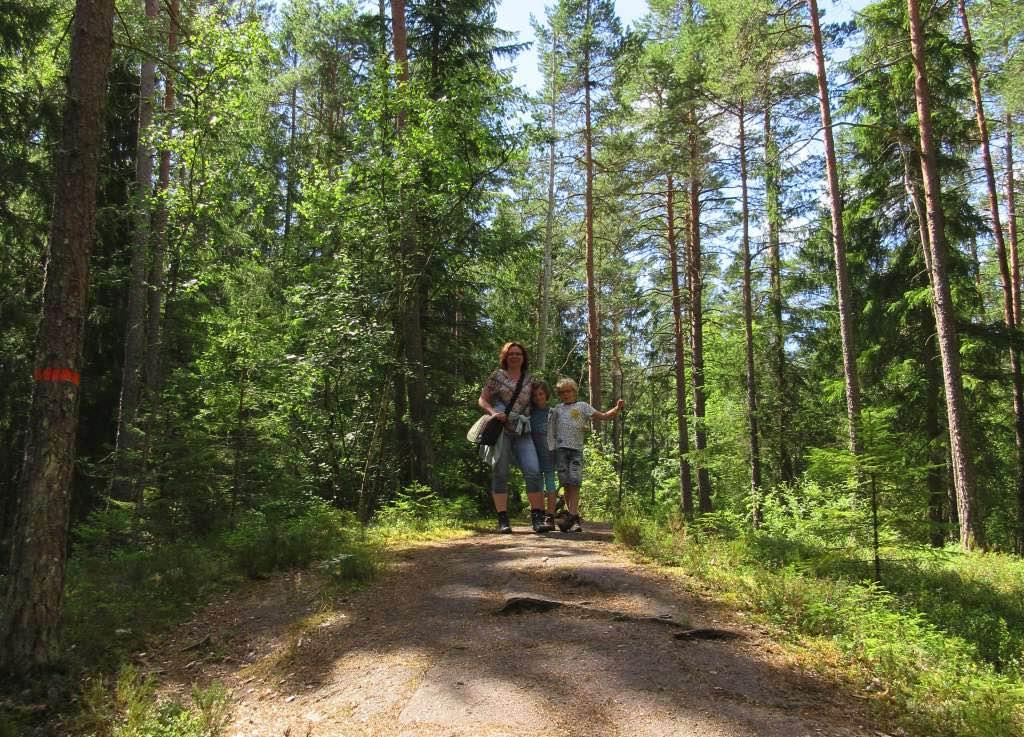 Wandelen met kinderen bij Sveafallen in Zweden
