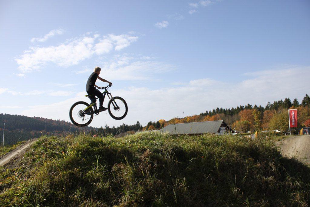 Het bikepark laten wij voor wat het is, klimmen en klauteren willen wij!