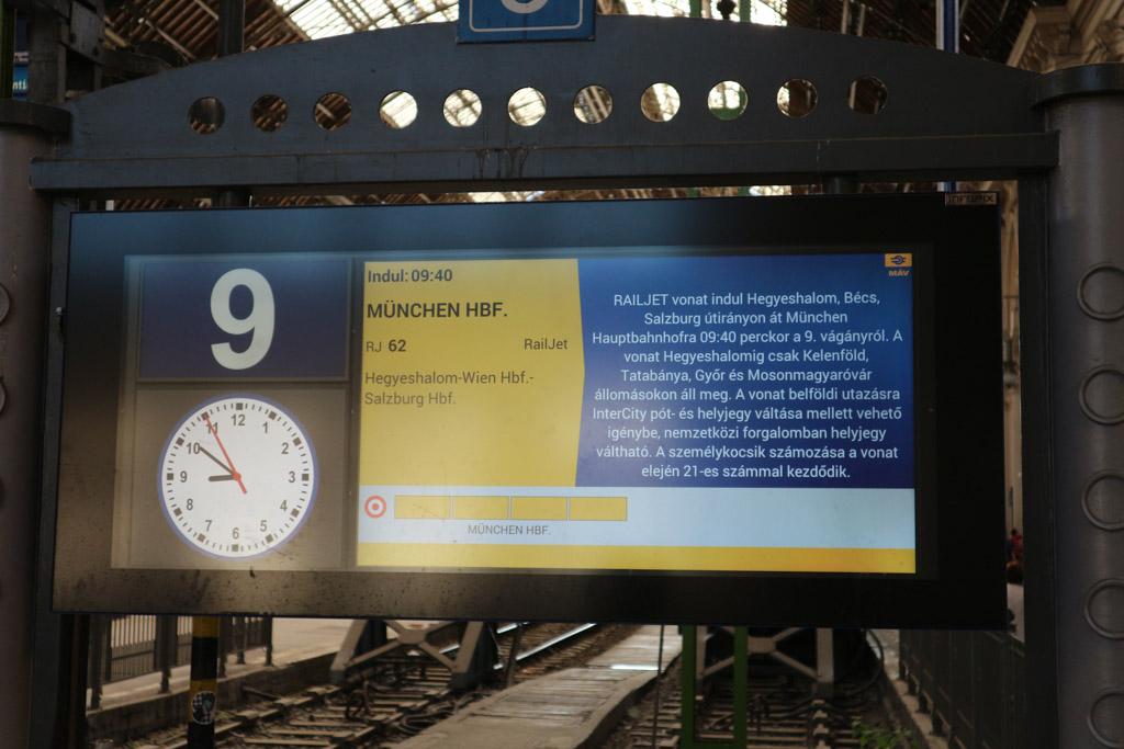 Vanuit Boedapest naar Wenen. Ook met München hebben beide steden een goede verbinding.