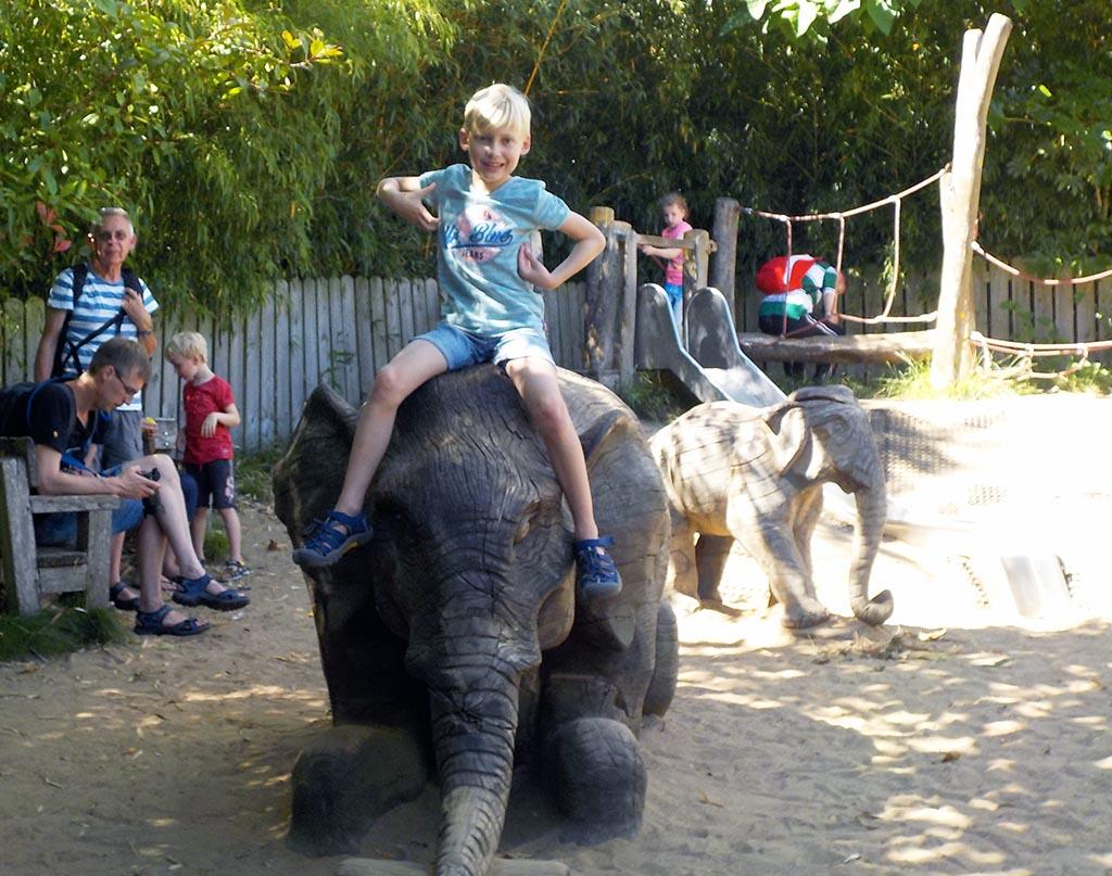 Speeltuintje bij de olifanten