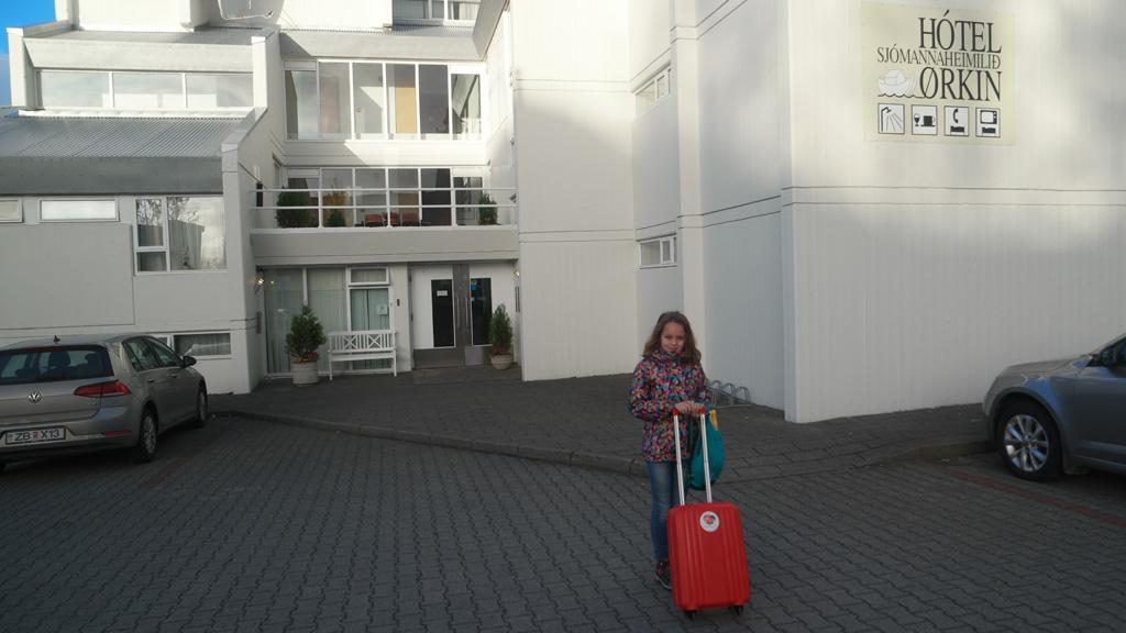Hotel Orkin heeft goede familiekamers, leuke speelhoek en een compleet ontbijt.