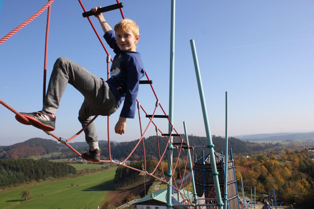 In Winterberg is een toffe speeltuin met mooi uitzicht.