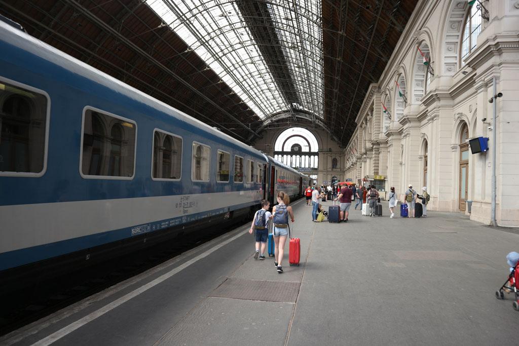 Aankomst in Boedapest.