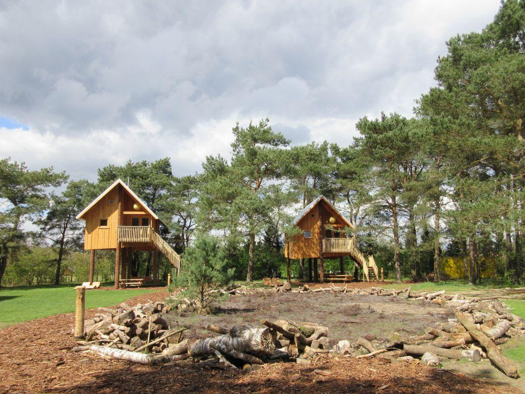 Hoe gaaf zijn deze boomhutten op camping de Wije Werelt