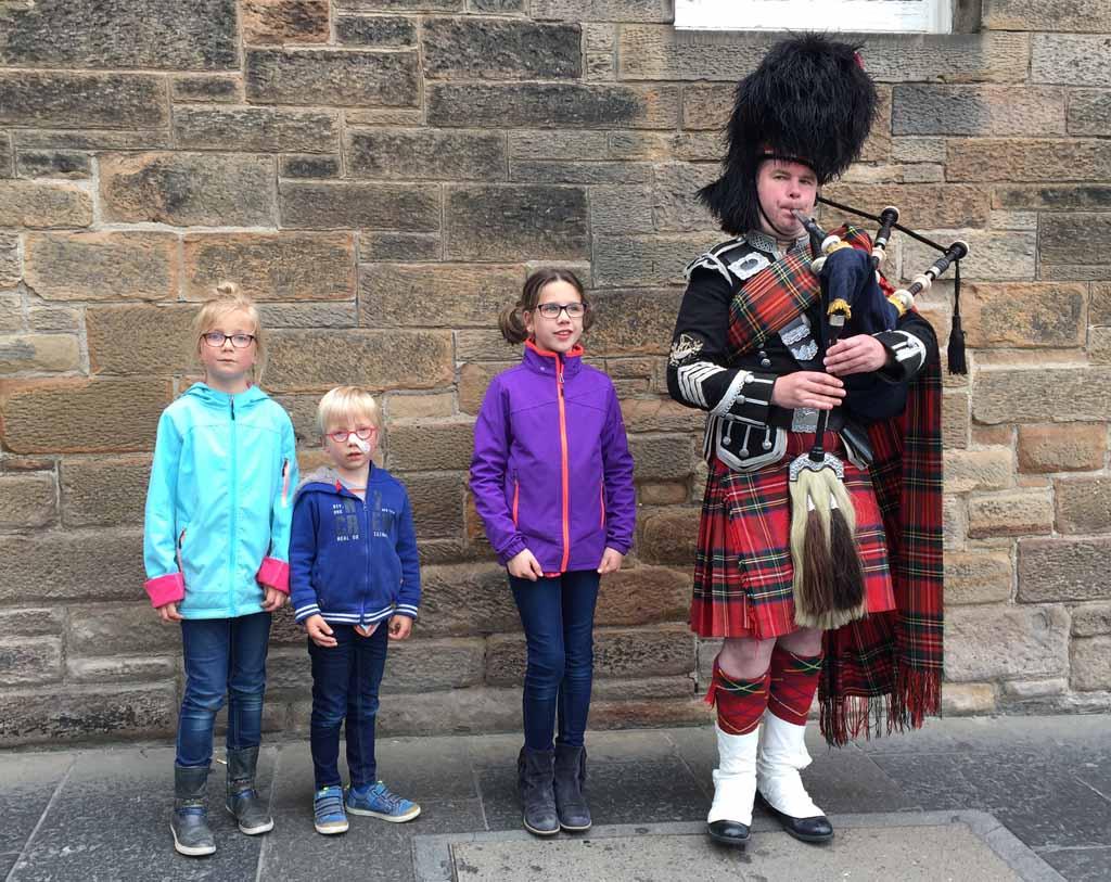 Edinburgh met kinderen doedelzak