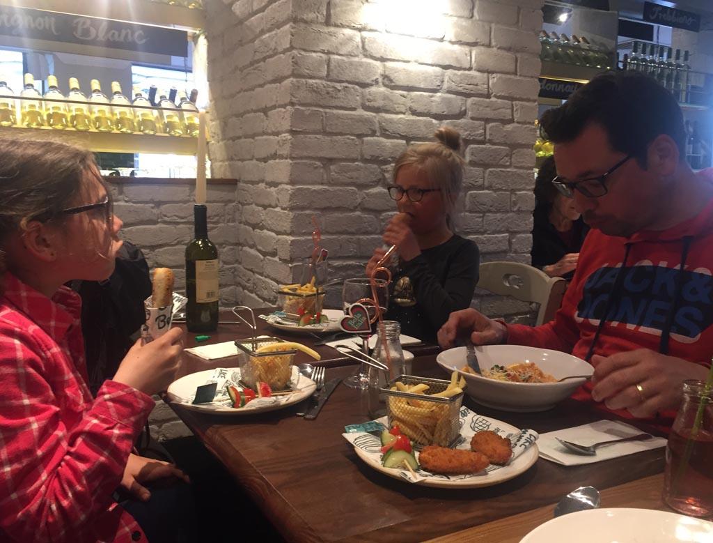 Edinburgh met kinderen diner